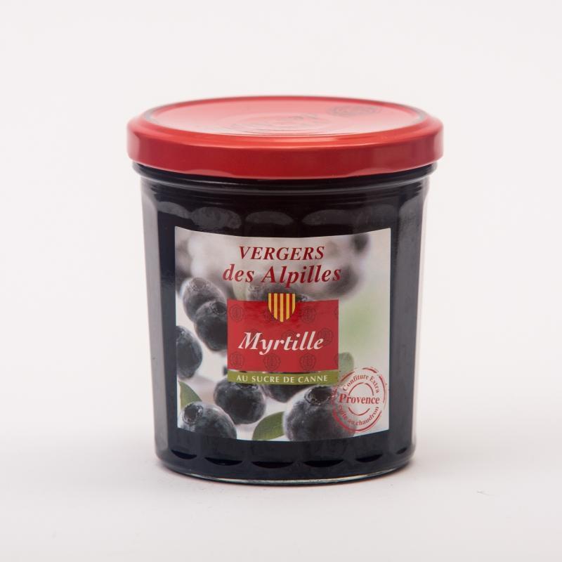 Vergers des Alpilles - Myrtille - Confitures au sucre de canne