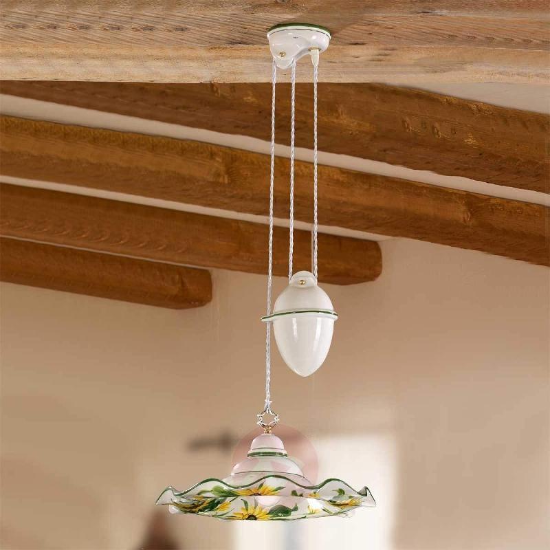 Height-adjustable GIRASOLA pendant light - Pendant Lighting
