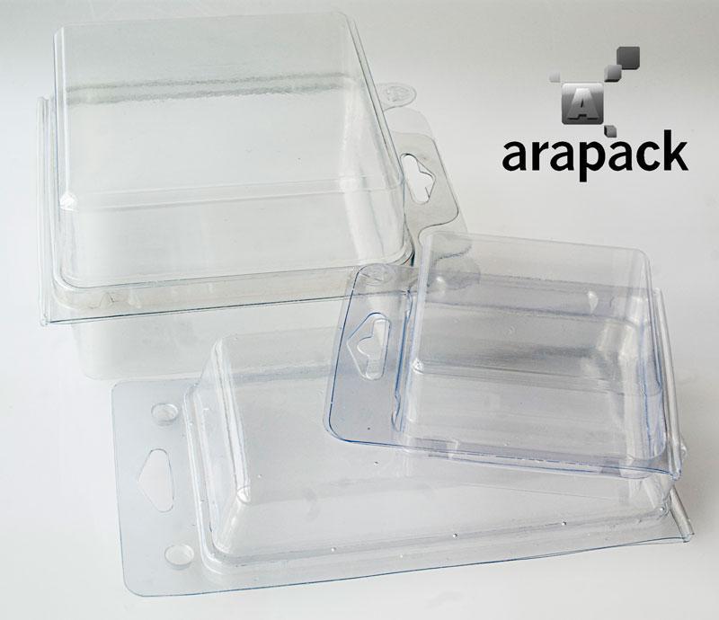 Blister PVC à fermeture automatique  - Emballage / Boîte transparent sous blister avec fermeture