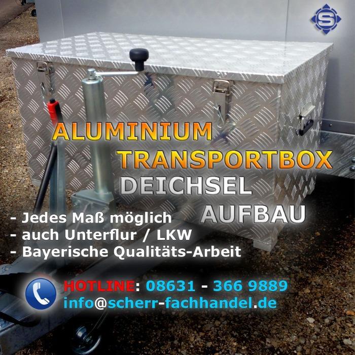 Aluboxen / Aluminium Transportboxen / Alu Deichselboxen - Ideal für die Wohnwagen Deichsel oder LKW Unterflur / Unterbau Stauboxen
