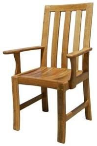 Vertical Back Chair With Arm Rest -