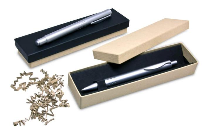 Environmentally friendly packaging for writing instruments -
