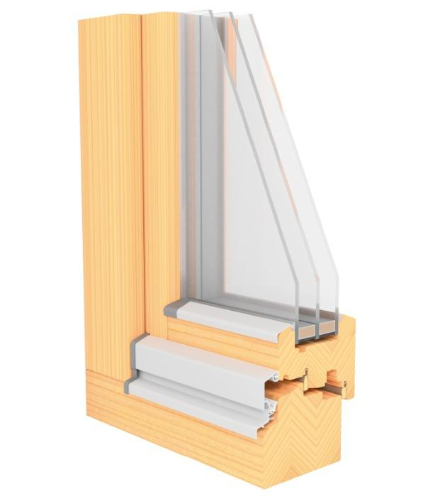LUCA Passiv - 92 mm Profile wooden window