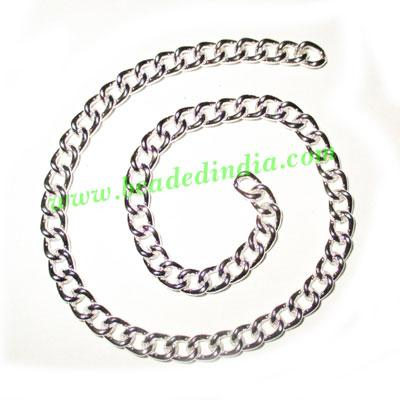 Silver Plated Metal Chain, size: 1x5mm, approx 19.4 meters i - Silver Plated Metal Chain, size: 1x5mm, approx 19.4 meters in a Kg.