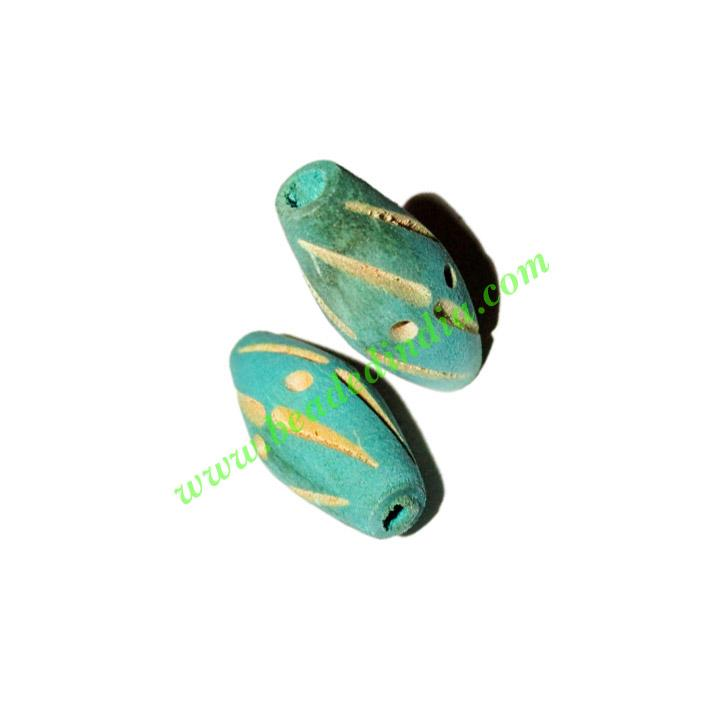Wooden Carved Beads, size 12x27mm, weight approx 1.05 grams - Wooden Carved Beads, size 12x27mm, weight approx 1.05 grams