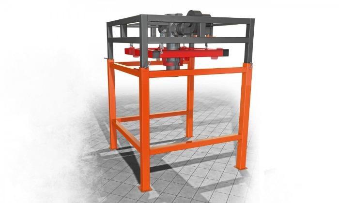 Dispenser för fyllning i stora påsar med toppvikt - Väger batcher för att fylla olika bulkprodukter i stora påsar
