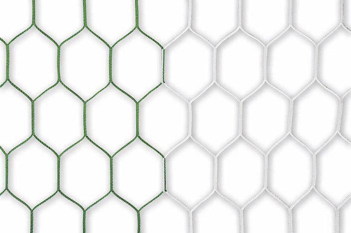 Tornetz - 7,32 x 2,44 m, Netztiefe oben 0,8 m - unten 1,5 m, grün-weiß, 4mm