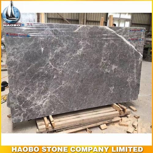 China Silver Sable Marble Grey Natural Stone Slab Polished