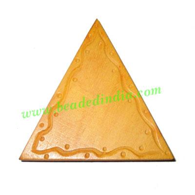 Handmade wooden fancy pendants, size : 50x6mm - Handmade wooden fancy pendants, size : 50x6mm