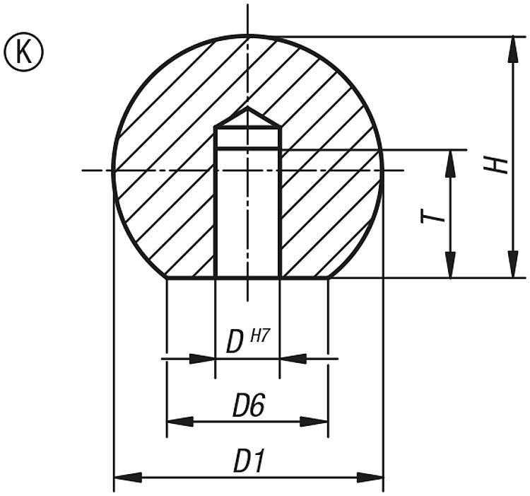 Flexibles Normteilesystem - Kugelknöpfe Edelstahl oder Aluminium DIN 319