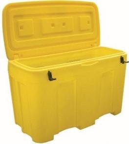 Bac À Sel Ou Sable 400 Litres Jaune - COF400J-Coffre et bac à sel ou sable PEHD