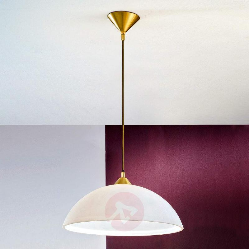 Kinga - Hanging Light in a Classic Shape - Brass - Pendant Lighting