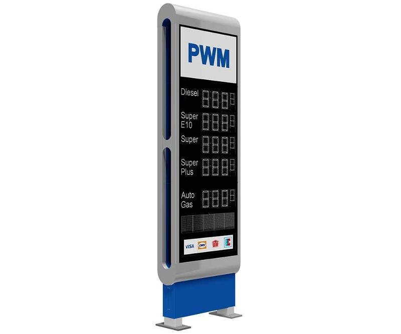 price signs, Monolith Column, PWM GMBH & CO  KG, Germany
