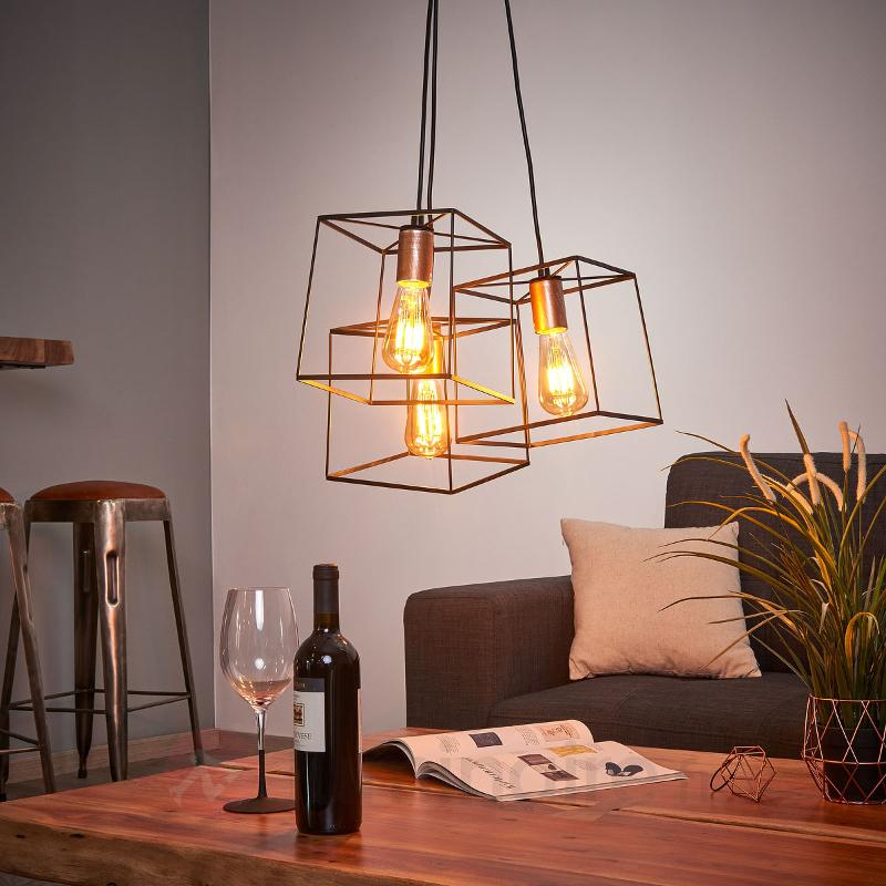 Suspension Agatha à trois lampes - Suspensions rustiques