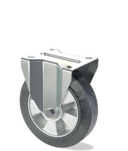 Roue en caoutchouc élastique avec noyau en aluminium - Série lourde