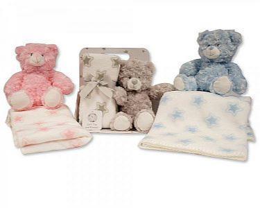 Baby Plüsch-Teddy mit Stern-Decke -