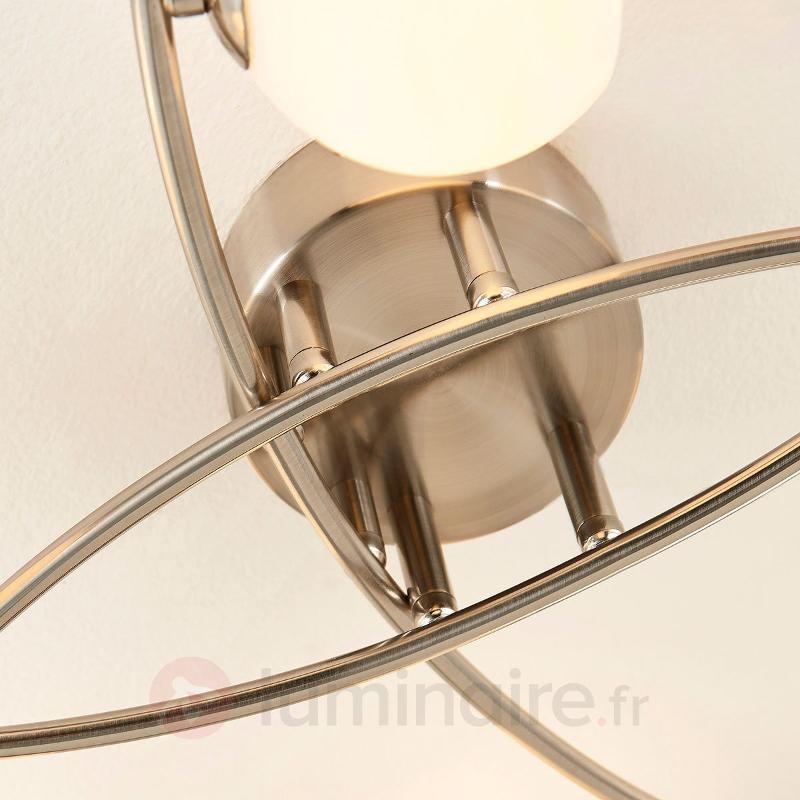 Plafonnier Muriel en verre opale à huit lampes - Plafonniers LED