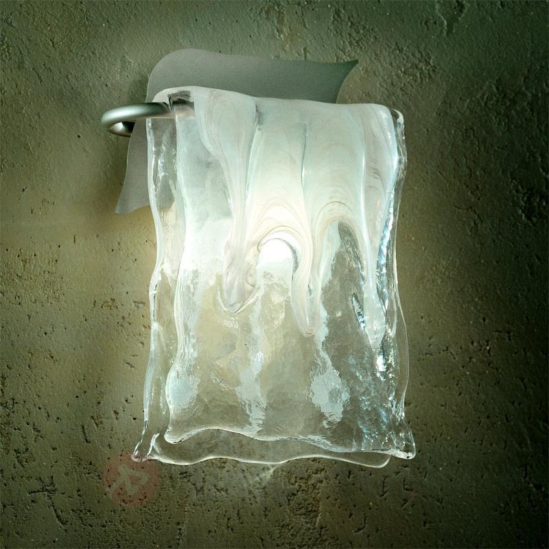 Applique MURANO verre aluminium en 2 tailles - Appliques en verre