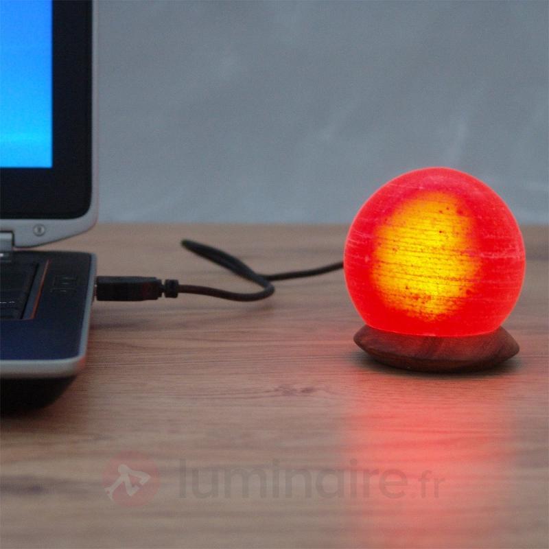 Jolie lampe à poser BALL avec branchement USB - Lampes de sel