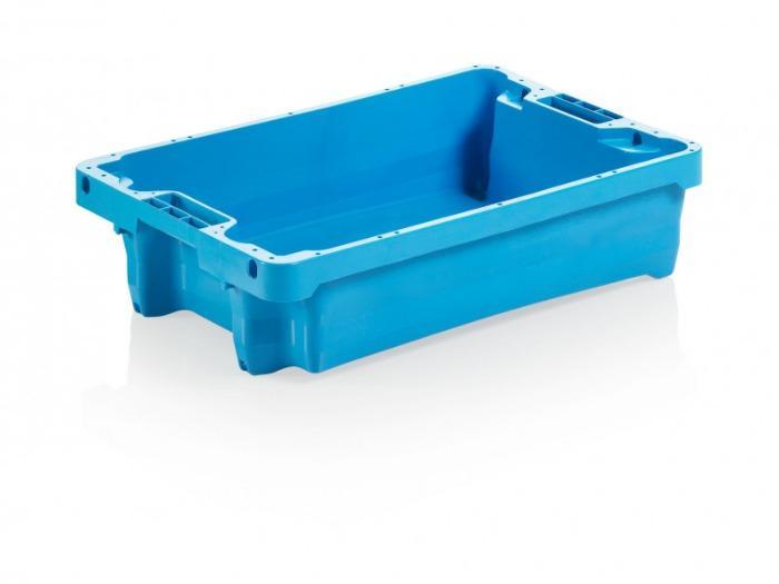 Cajas apilables y encastrables 15 – 75 l - Cajas apilables y encastrables, aptos para alimentos, HPDE, apilables