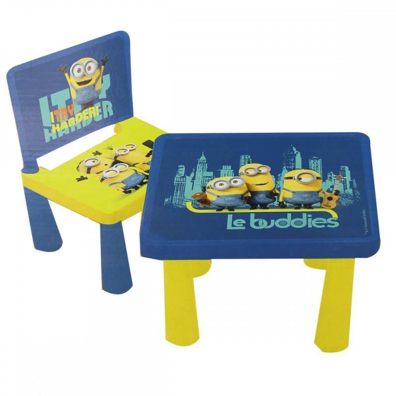 3x Tables et chaises Minions - Mobilier