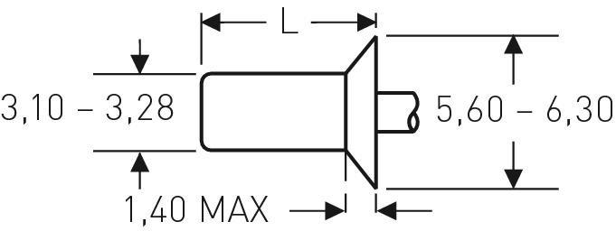 Blind rivet technology - POP® - Closed end rivets, closed design - Countersunk 120°