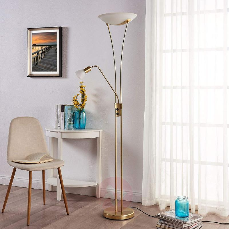 LED uplighter Felicia with reading arm, dimmable - indoor-lighting