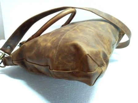 Leather Tote Bag - Leather tote bag with Shoulder strap