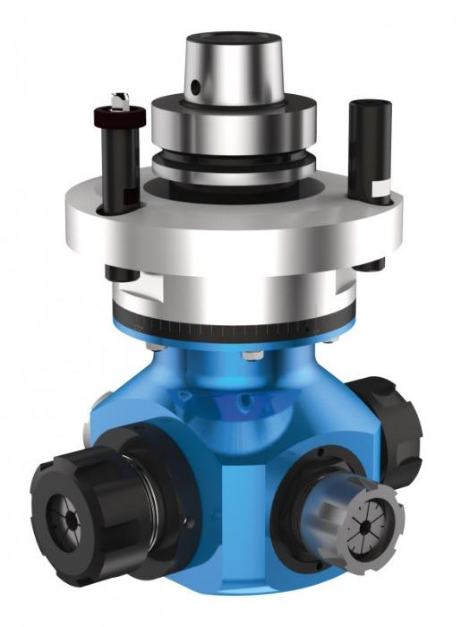 Four sided angle head QUATTRO - CNC unit / angle head with 4 output spindles for machining of wood