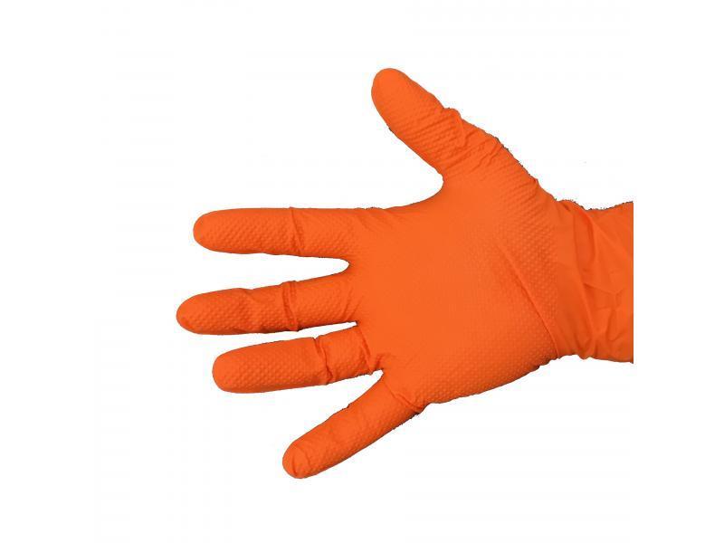 Gant en nitrile orange très résistant avec picots Réf.... - Protection individuelle EPI