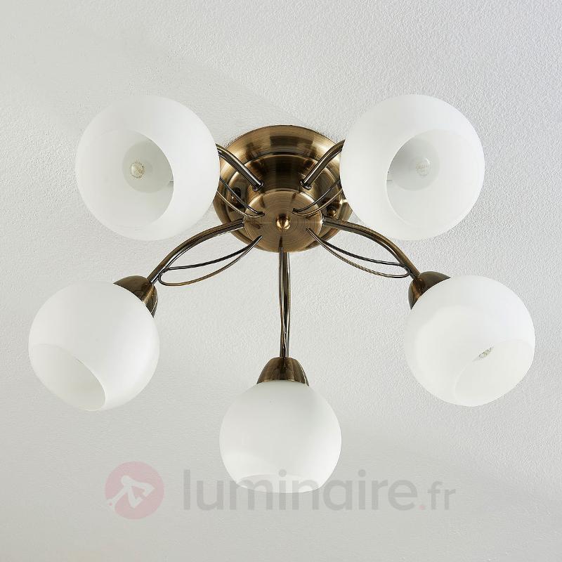 Plafonnier à cinq lampes Taleja - Plafonniers classiques, antiques