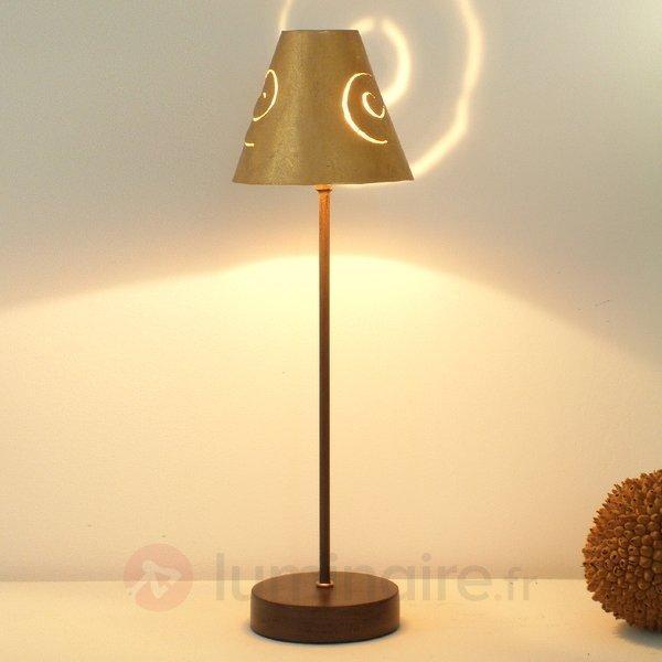 Élégante lampe à poser SCHNECKENHUT OR en fer - Lampes à poser pour rebord de fenêtre