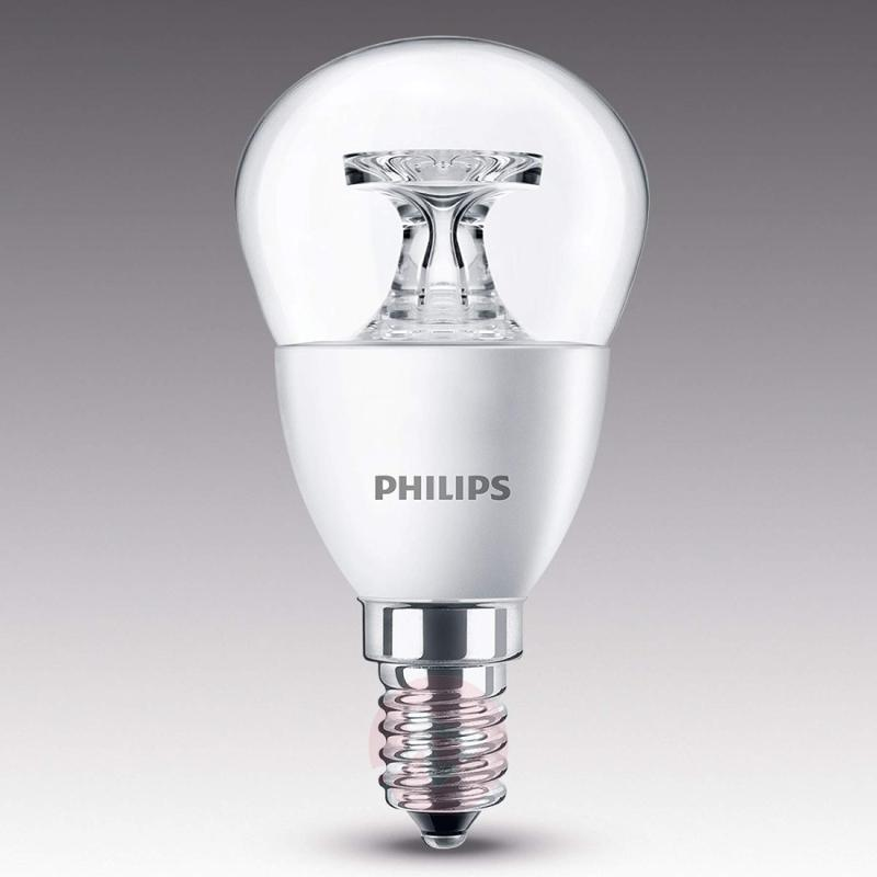 E14 5.5 W 827 LED golf ball bulb, clear - light-bulbs