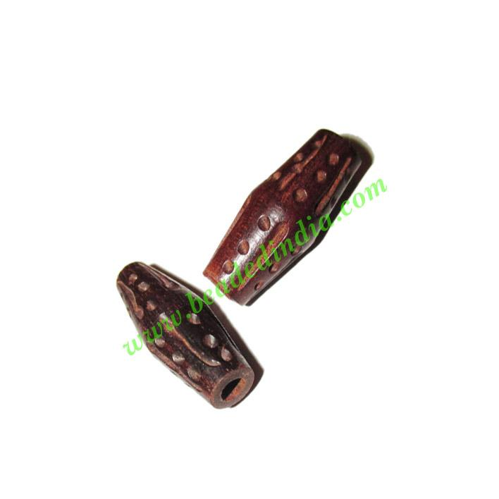 Rosewood Beads, Handcrafted designs, size 10x26mm, weight ap - Rosewood Beads, Handcrafted designs, size 10x26mm, weight approx 1.35 grams