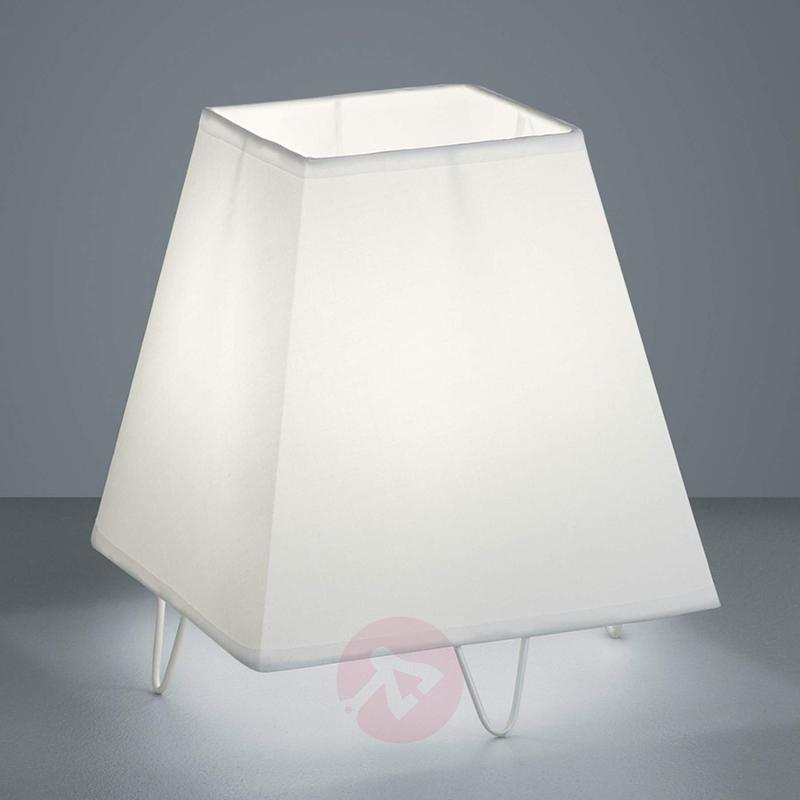 Modern fabric table lamp Zing in white - indoor-lighting