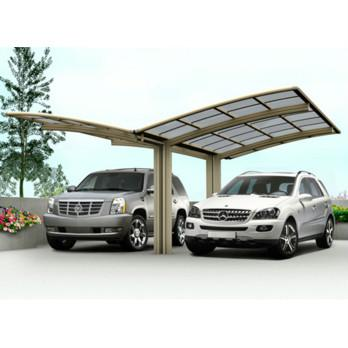 double carport canopy in Romania - Cutomized carport with polycarbonate sheet aluminum frame in China manufacturer