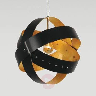 Ecliptika - hanging light with gold leaf - Pendant Lighting