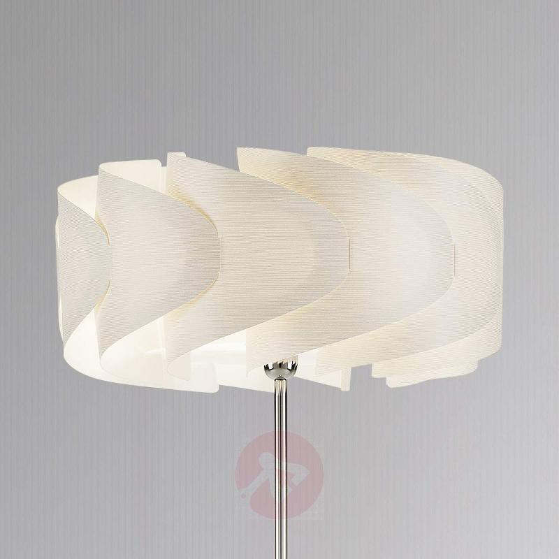 Floor lamp Piantana Ellix in white wood finish - Floor Lamps