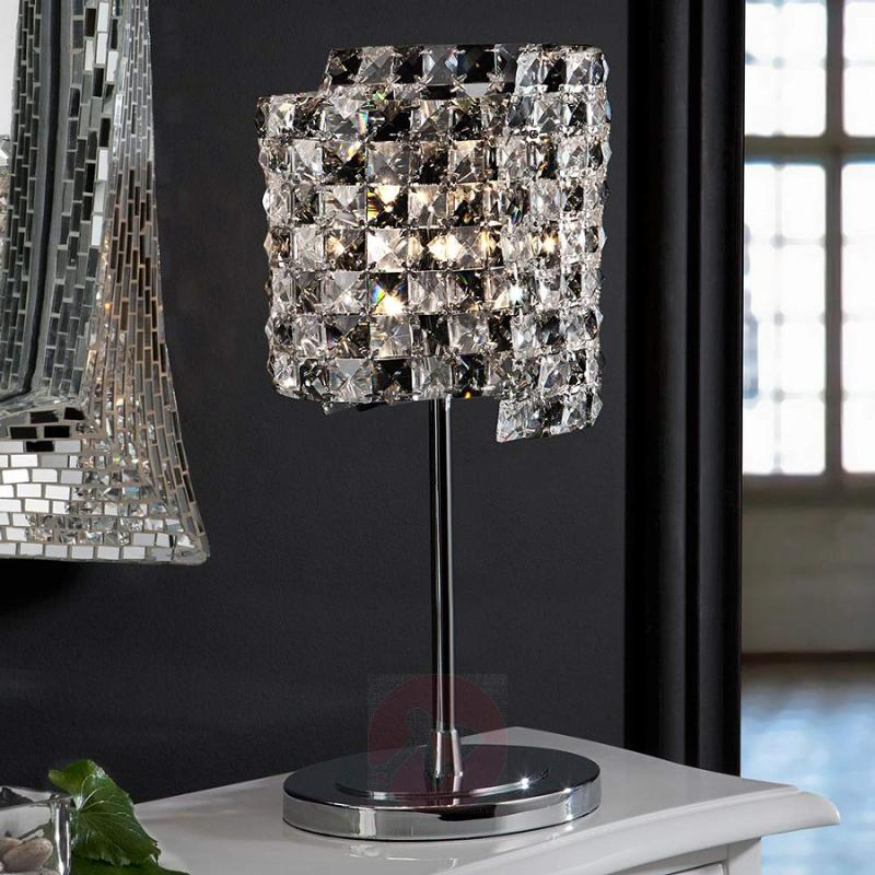 Crystal table lamp Satén with K9 crystals