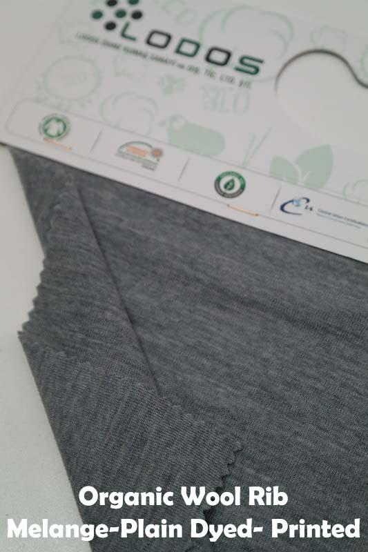 Organic Merino Wool Rib - Plain dyed- Printed- Melange