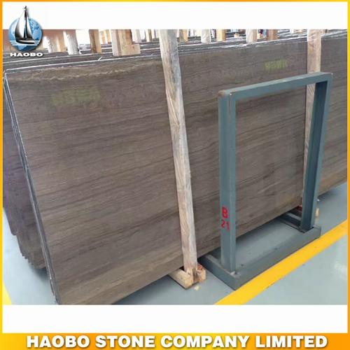 China Coffee Wood Grain Marble Slab Available 2CM & 3CM