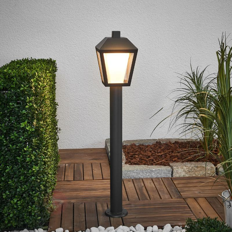 Borne lumineuse LED en forme de lanterne Keralyn - Bornes lumineuses LED