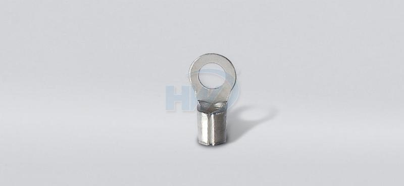 Non-Insulated Ring Terminals, Copper, Wire Range 22-16 AWG,Stud Size ...