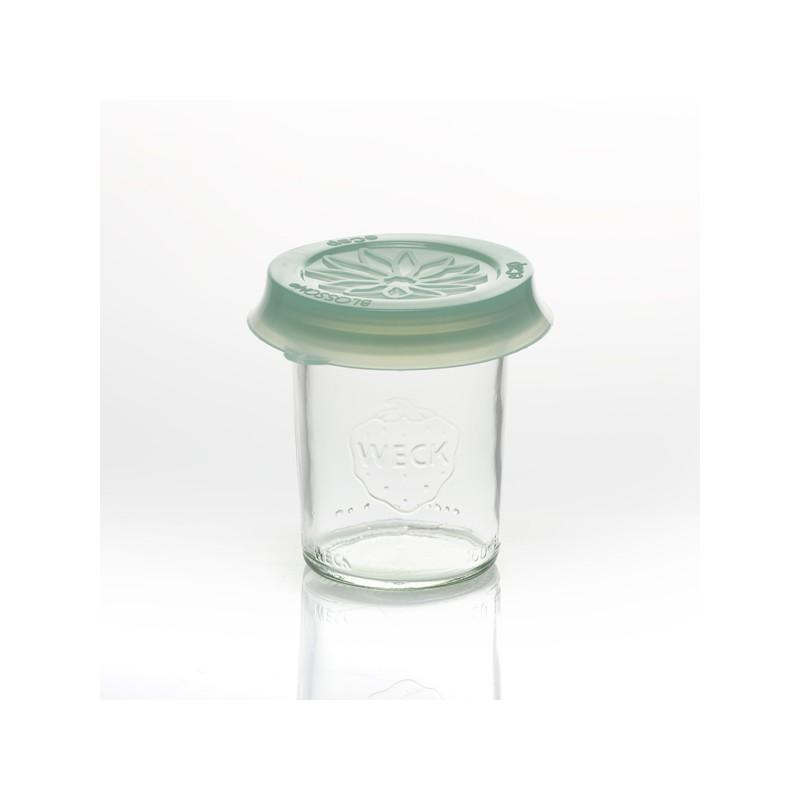 Cap out of silicone Blossom eCAP Storage - diameter 60 mm, Green for jars WECK
