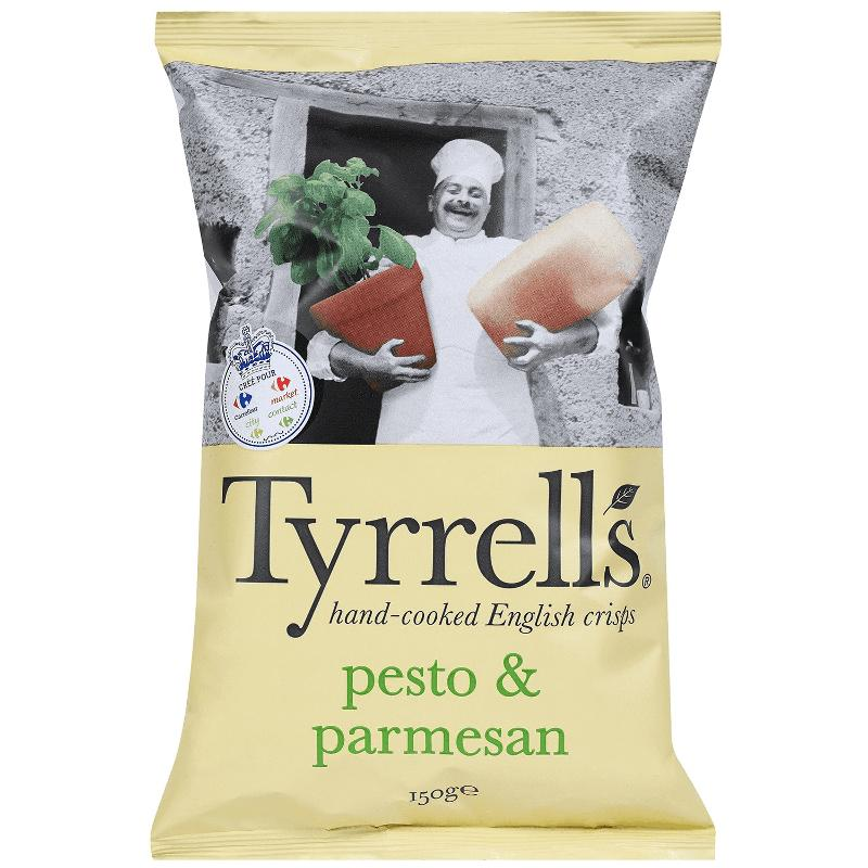 Chips pesto & parmesan 150g - TYRRELL'S - Chips pesto & parmesan 150g - TYRRELL'S