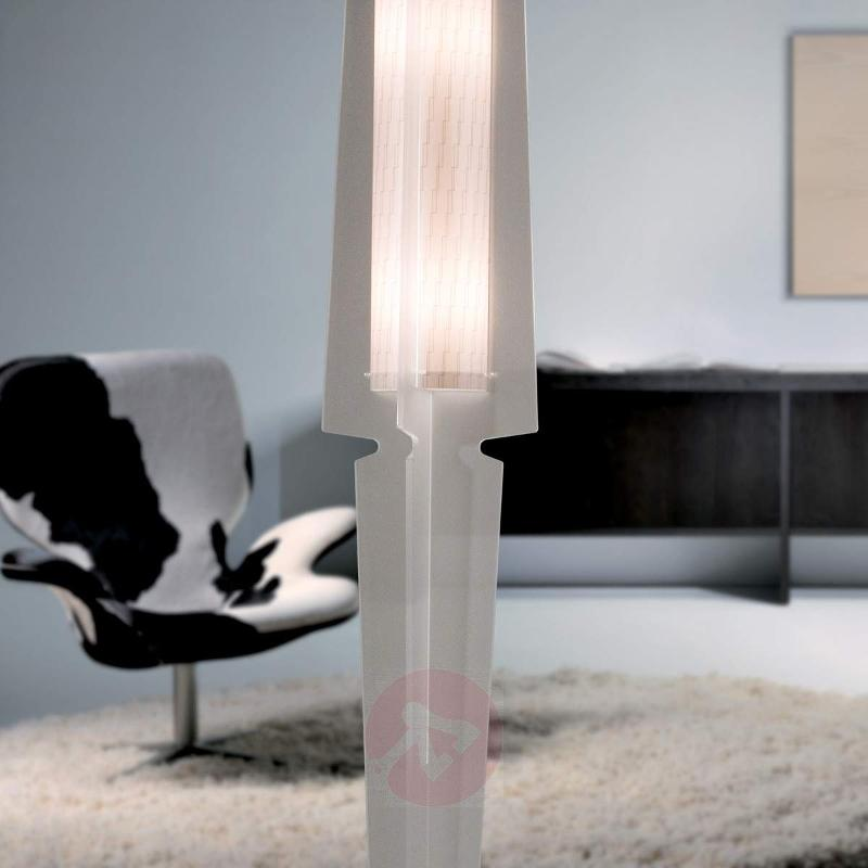 Perfectly designed floor lamp Dea, satin white - Floor Lamps