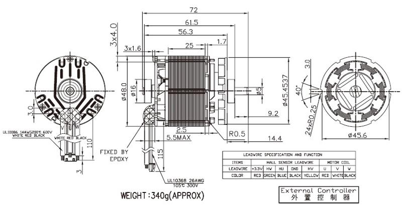 BLDC4825 - Brushless DC Motor