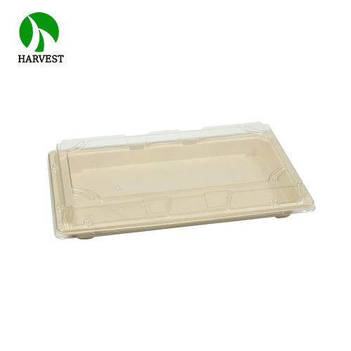 Bagasse Paper Bamboo Fiber Disposable Compostable Sushi Bento Box - Green Collection