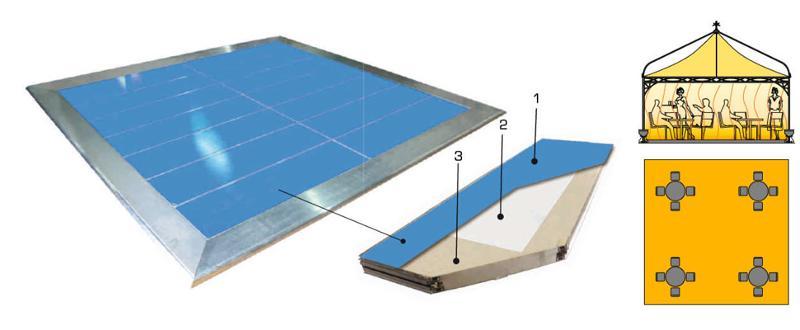 Plancher chauffant Solarex - Accessoires Pagodes MaxLéger et MaxLourd