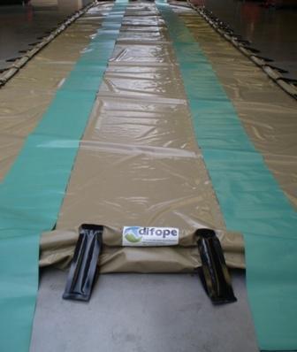 Bac de rétention souple pliable avec renforts 21600 litres - BRSO 21600AUTO Bacs de rétention souples